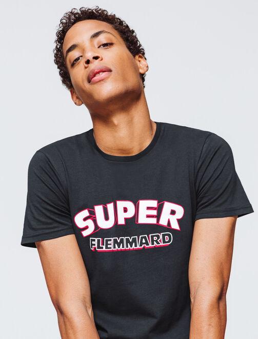 """T-shirt message """"Super flemmard"""" homme"""