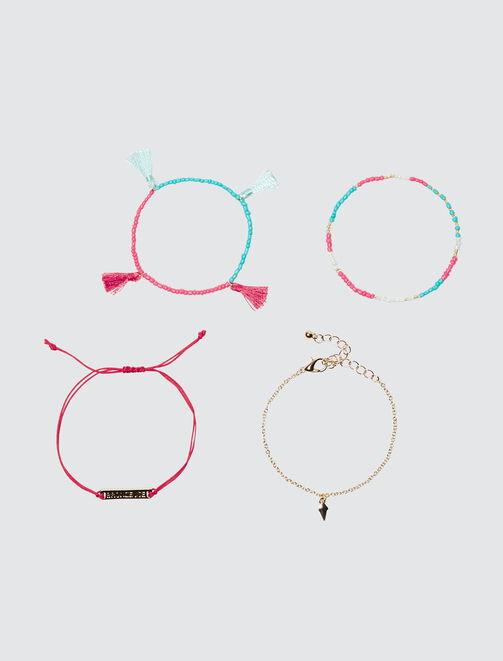 Lot de 4 bracelets fantaisie femme