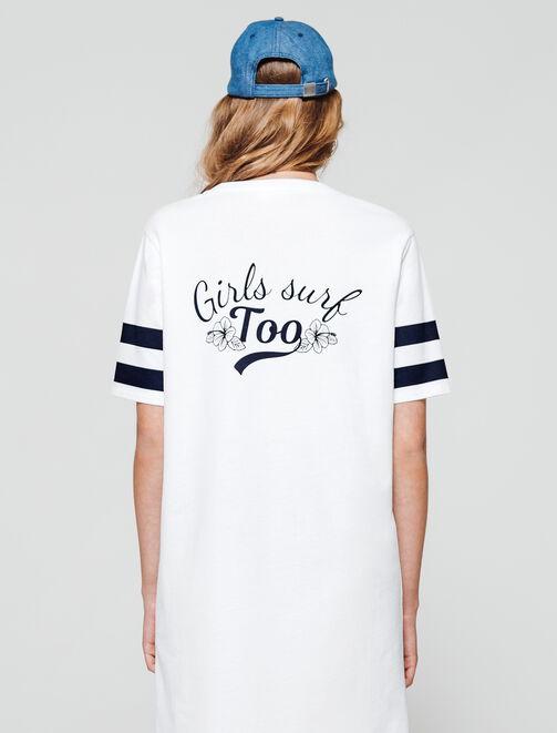 "Robe imprimé ""Girls surf too"" femme"
