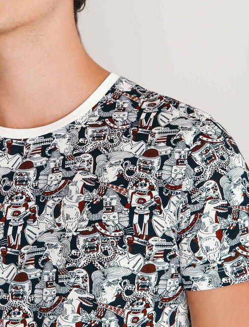 T-shirt imprimé esprit BD homme