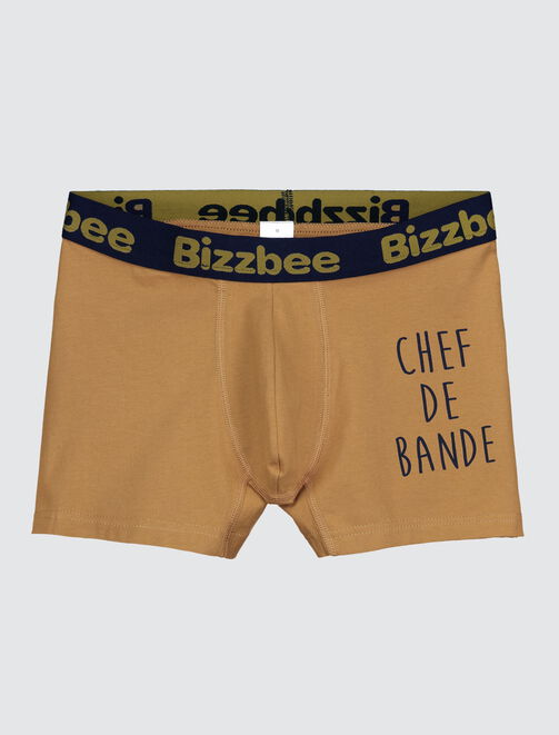 """Boxer Message """"Chef de Bande"""" homme"""