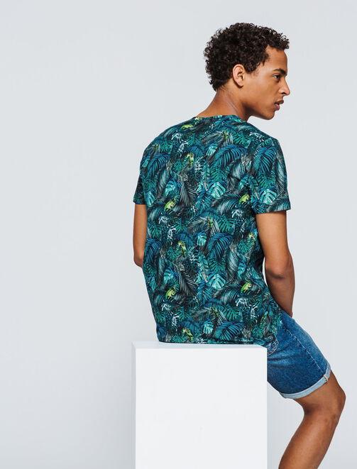 T-shirt imprimé Jungle homme