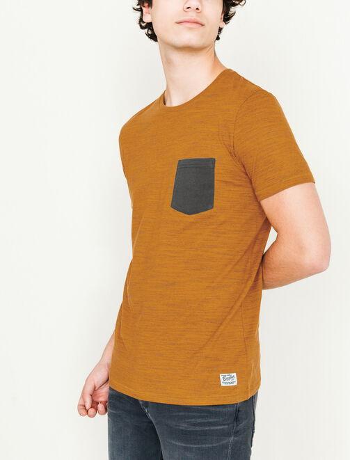 T-Shirt Injecté Poche contrasté homme