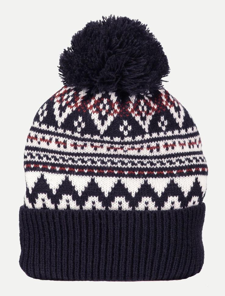 bonnet jacquard homme