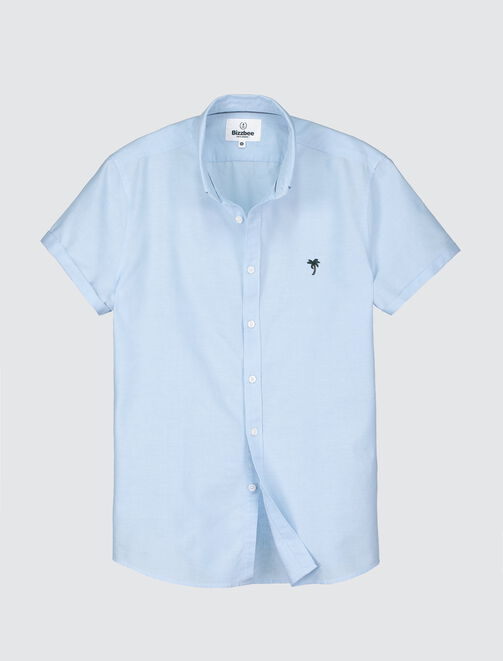 Chemise manches courtes oxford homme