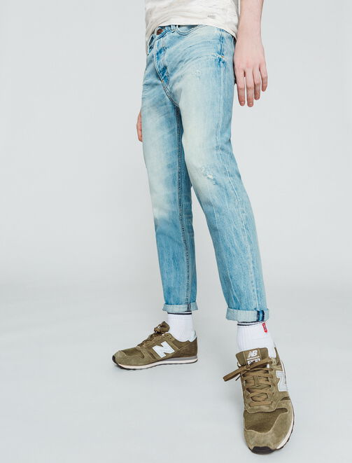 Jean slim cropped tapered homme