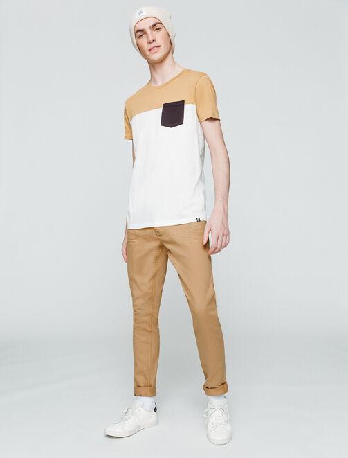 Pantalon skinny couleur homme