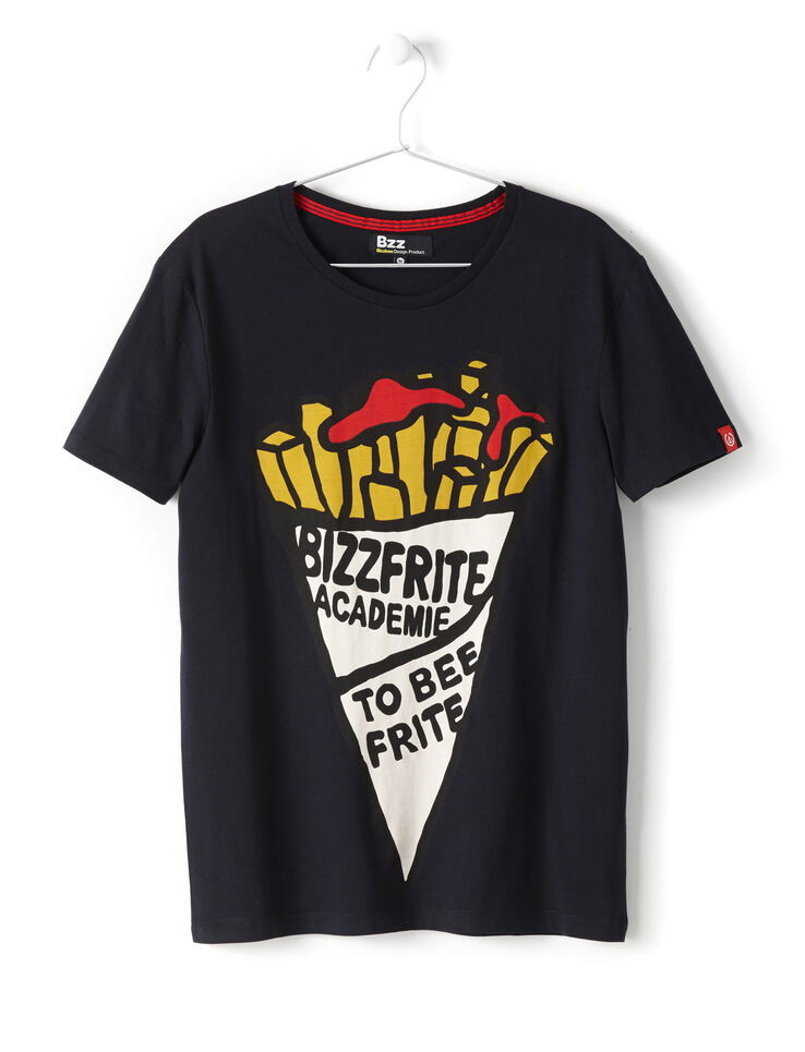 t shirt cornet de frite et message homme bizzbee. Black Bedroom Furniture Sets. Home Design Ideas