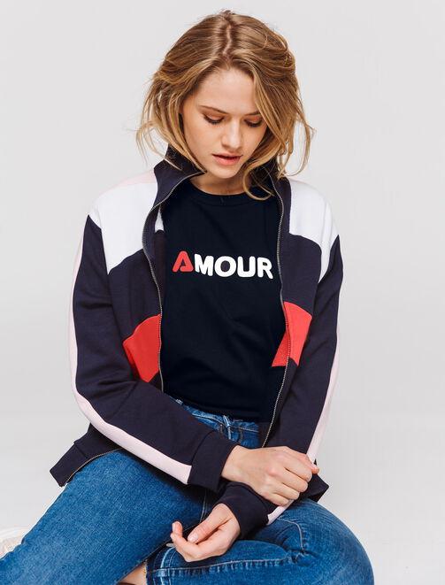 "T-shirt message "" AMOUR"" femme"