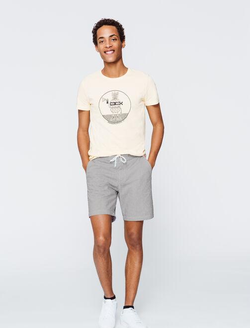 Bermuda léger rayé homme