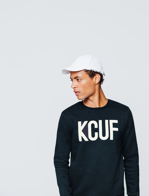 "Sweat message ""KCUF"" homme"