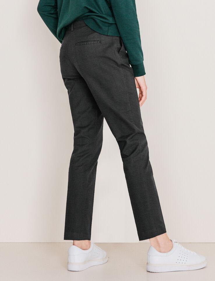 Pantalon carreaux prince de galles femme gris carreaux for Pantalon a carreaux