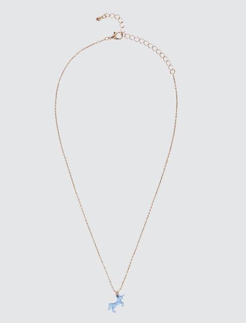 Collier Pendentif Pastel Licorne femme