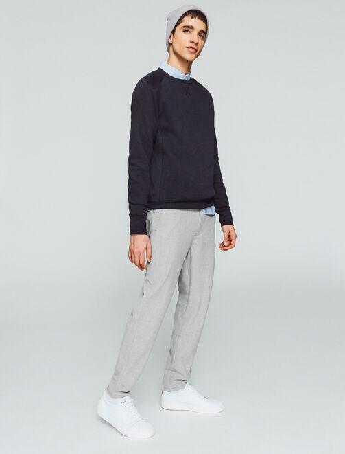 Pantalon de ville gris homme