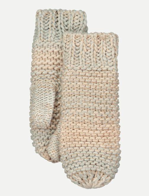 Moufles tricot femme