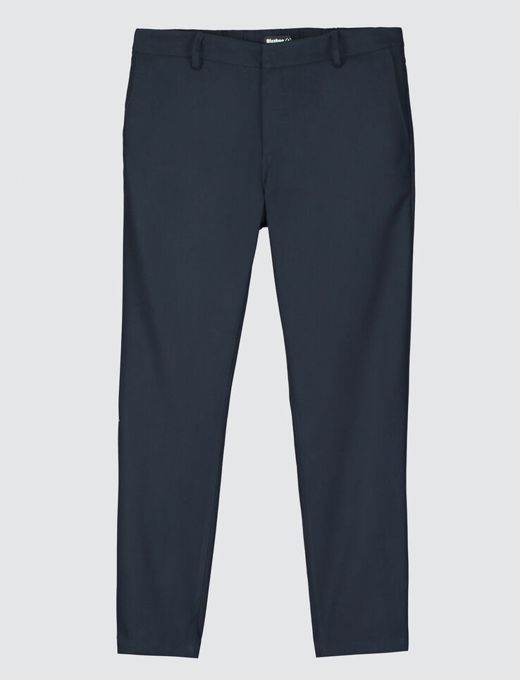 pantalon de ville fluide homme bleu marine bizzbee. Black Bedroom Furniture Sets. Home Design Ideas
