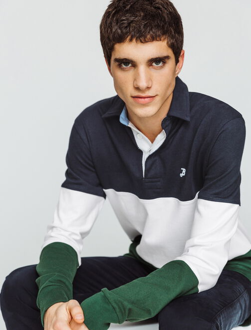 Polo rugby colorblock homme