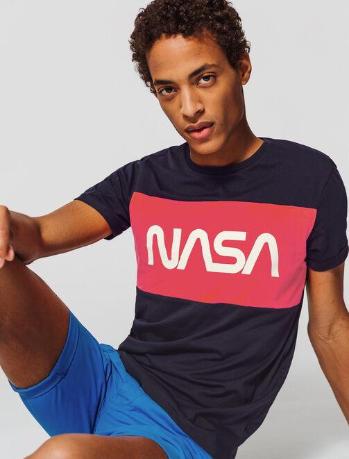 T-shirt color-block  licence NASA homme