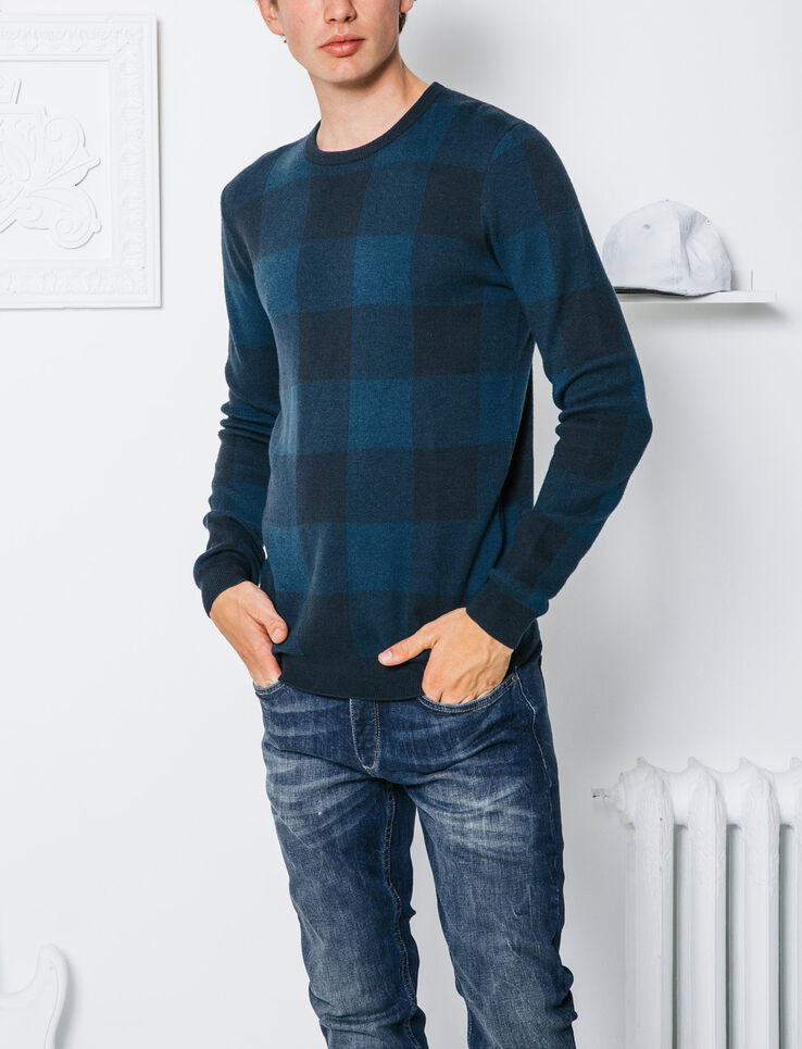 Pull carreaux homme bizzbee for Pull a carreaux