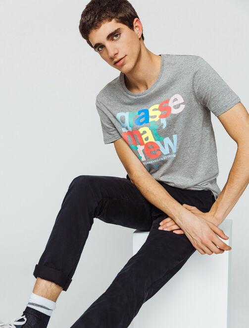 """T-shirt message """"Grasse mat' crew"""" homme"""