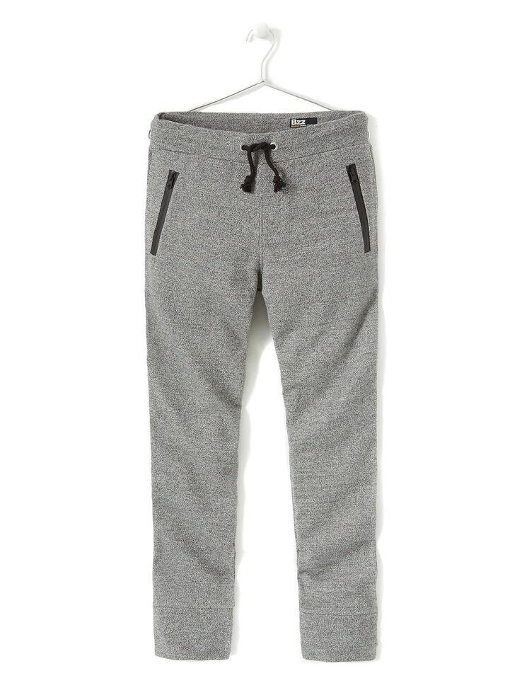 pantalon molleton poches zipp es devant homme gris chin bizzbee. Black Bedroom Furniture Sets. Home Design Ideas