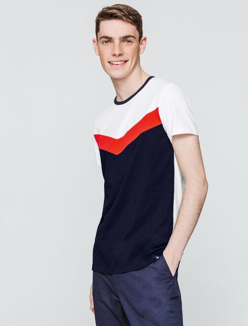 T-shirt color-block V homme
