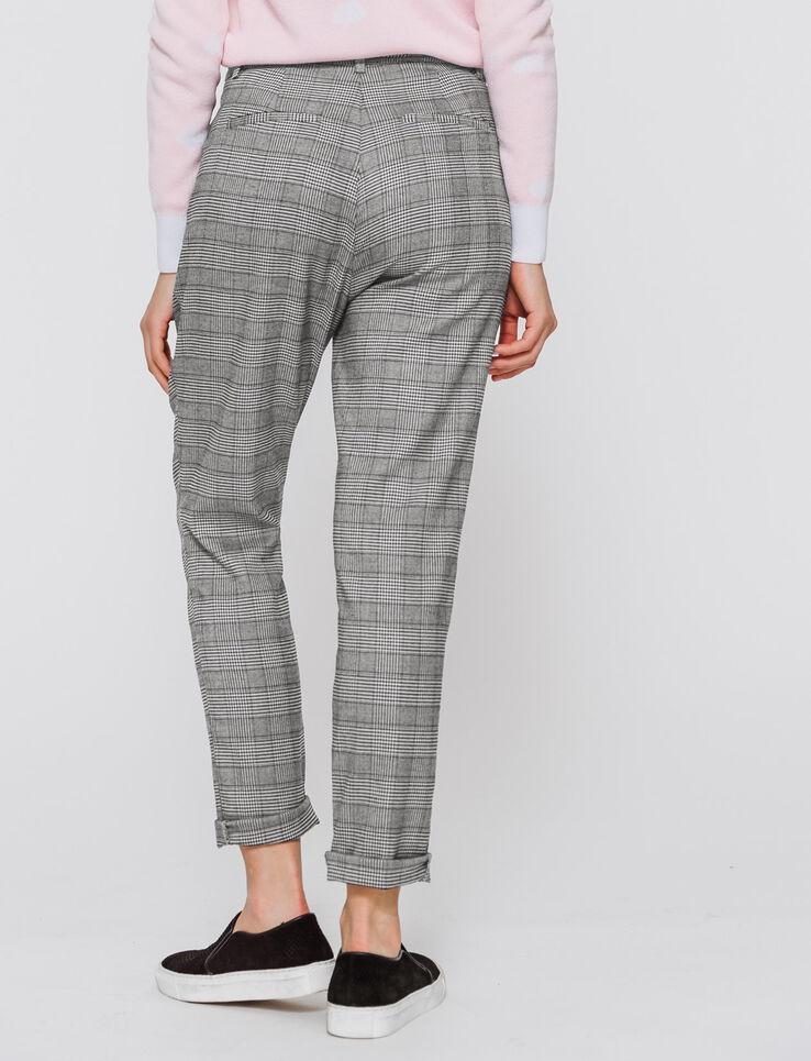 pantalon prince de galles femme gris carreaux bizzbee. Black Bedroom Furniture Sets. Home Design Ideas