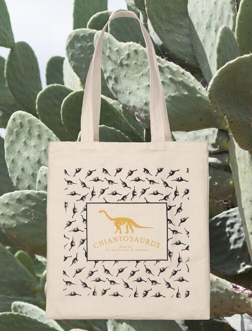 "Tote bag message ""chiantosaurus"" femme"