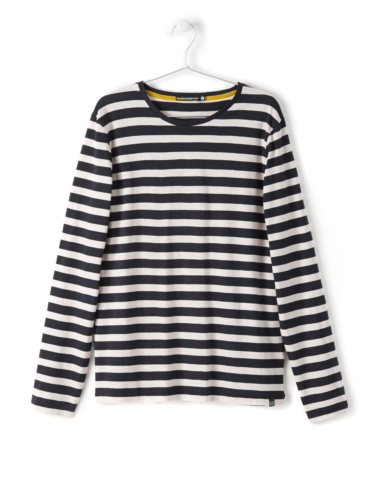 T-shirt rayé noir et blanc