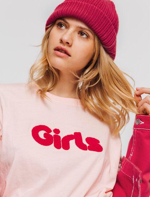 """T-shirt à message """" Girls"""" femme"""