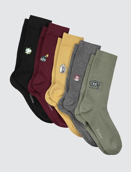 Chaussettes animées homme
