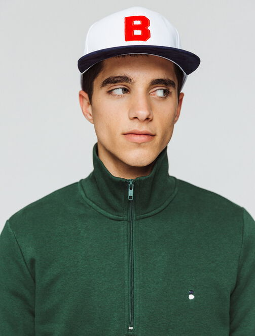 Sweat col montant uni homme