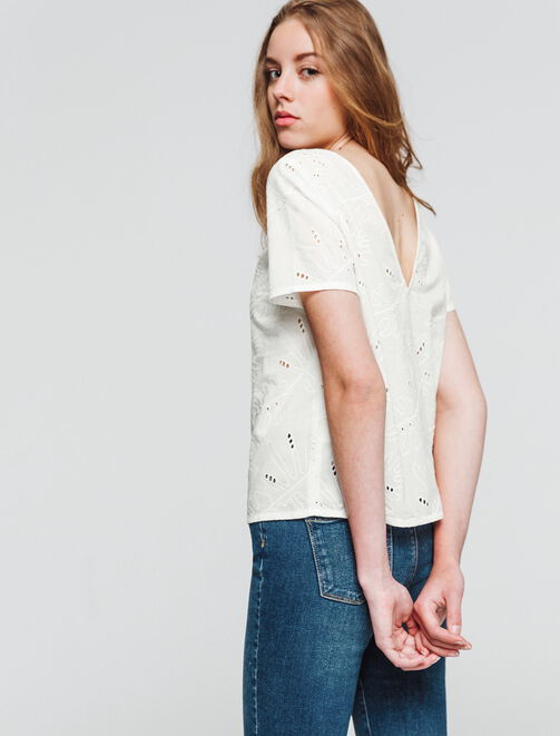 Top broderie anglaise  femme