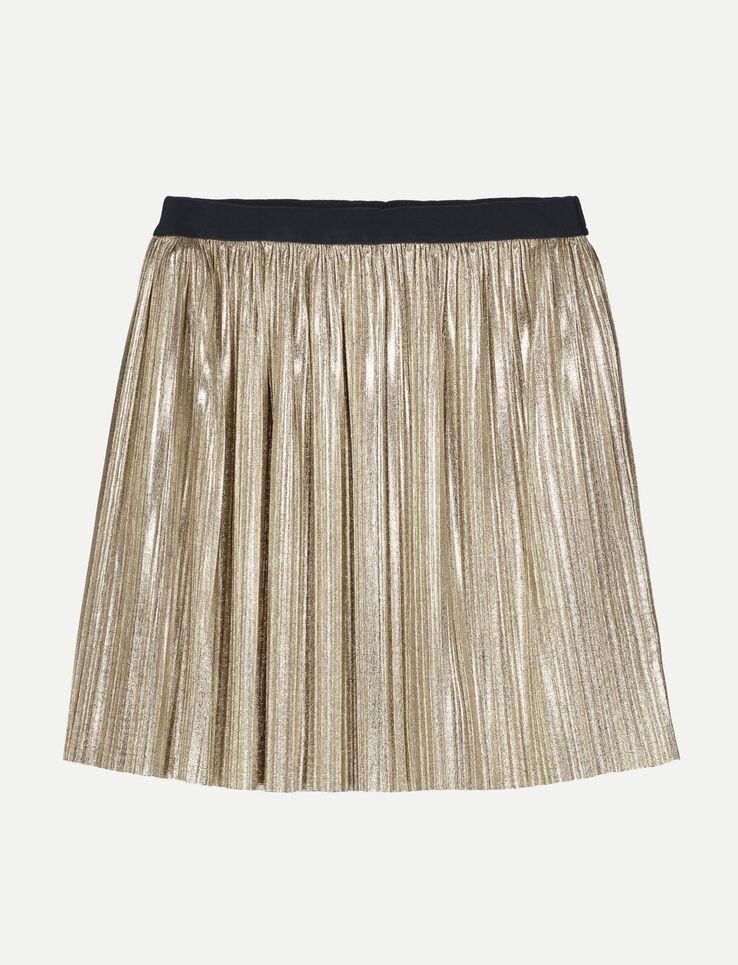 Jupe courte plissée métallisée