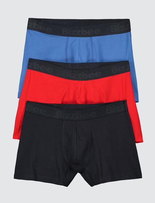 Lot de 3 boxers unis homme