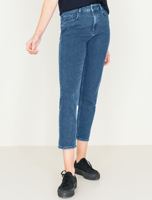 Jeans Mom taille haute femme