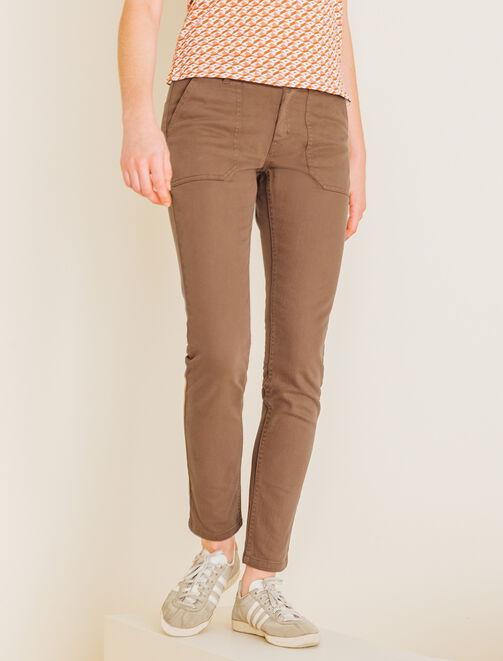 Pantalon chino worker femme
