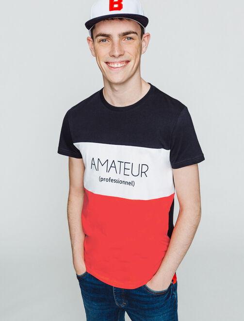 """T-shirt message """"Amateur (professionnel)""""  homme"""