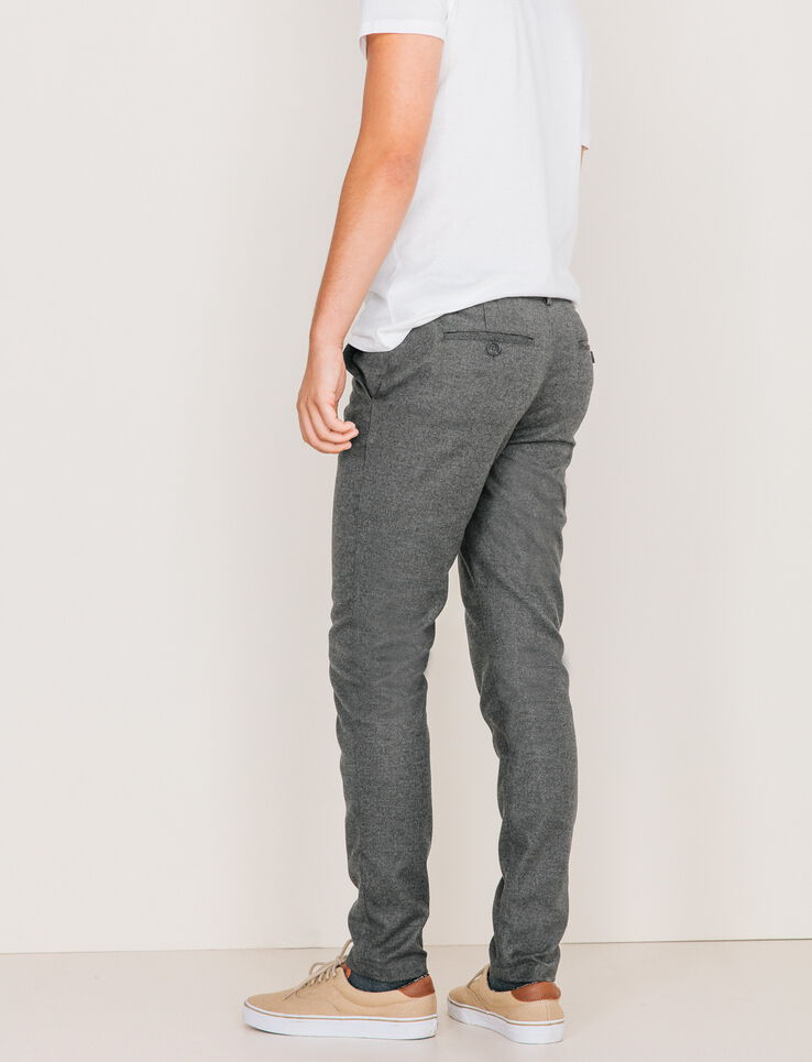 pantalon de ville classique homme gris chine fonc bizzbee. Black Bedroom Furniture Sets. Home Design Ideas