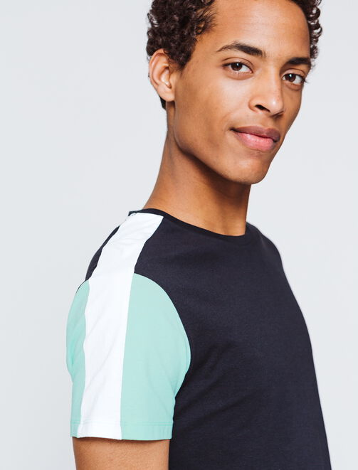 t-shirt bandes sport  homme
