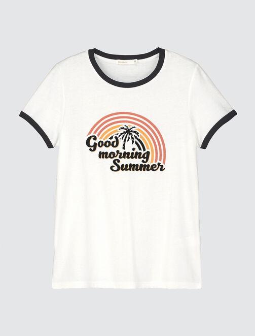 """T-shirt message """" Good Morning Summer"""" femme"""