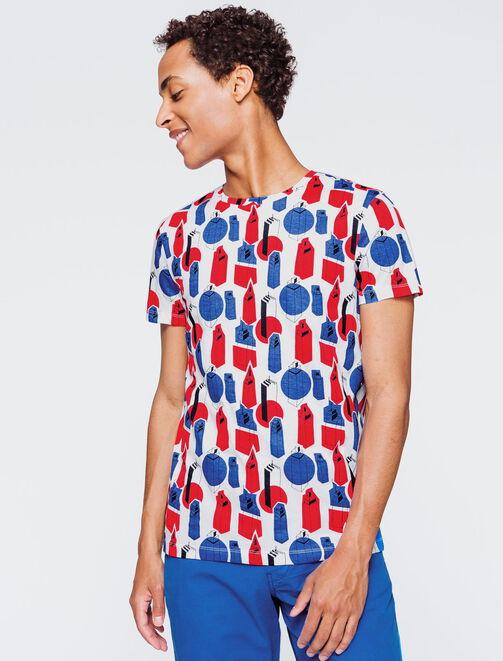 T-shirt imprimé building homme