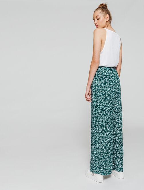 Pantalon fluide imprimé femme