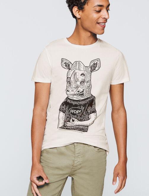 T-shirt Imprimé Rhinocéros  homme