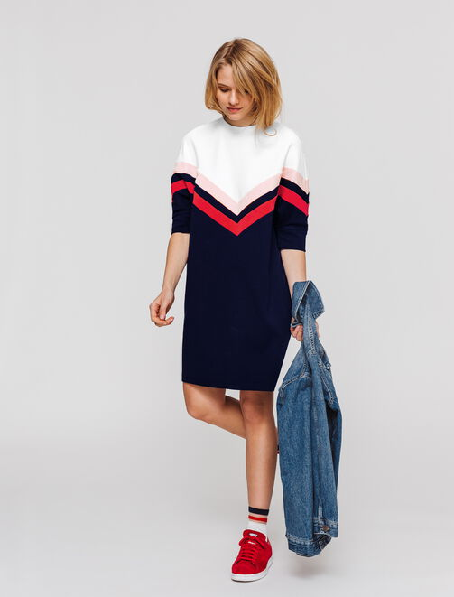 Robe maille colorblock  femme