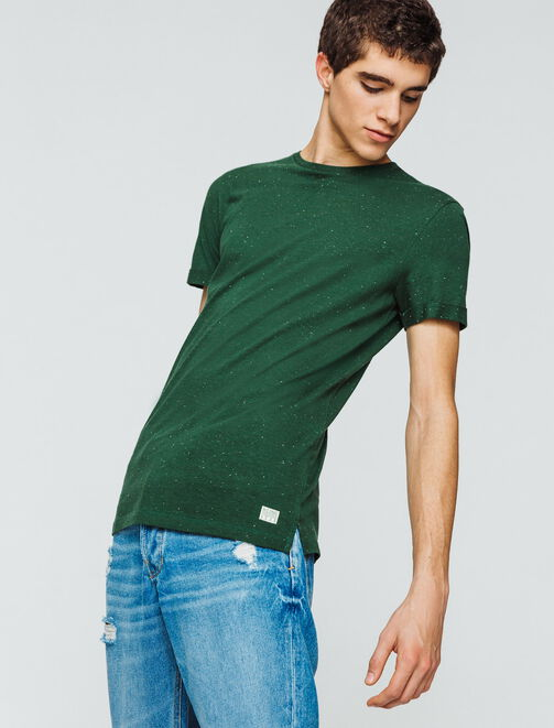 T-shirt basique effet moucheté homme