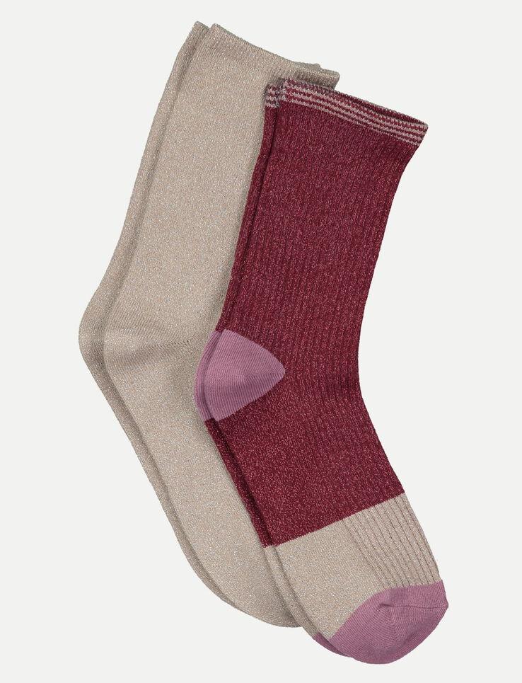 chaussettes paillettes femme rose doux bizzbee. Black Bedroom Furniture Sets. Home Design Ideas