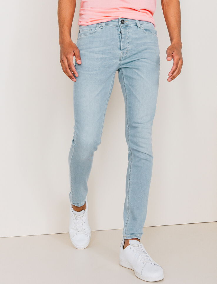 jeans skinny clair d lav homme bleu jean bleach bizzbee. Black Bedroom Furniture Sets. Home Design Ideas