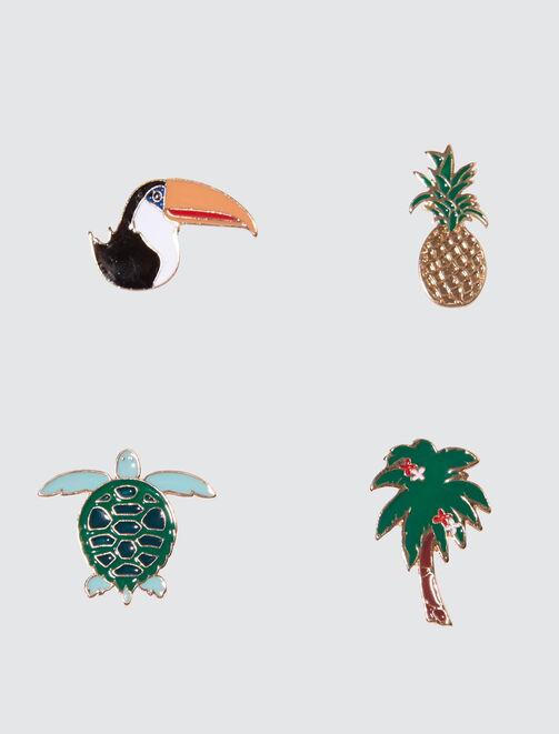 Set de Pins Tropicaux femme