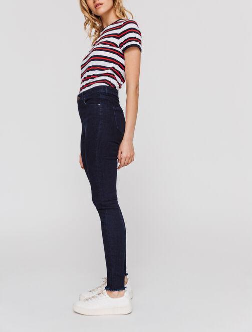 Jeans skinny taille haute femme